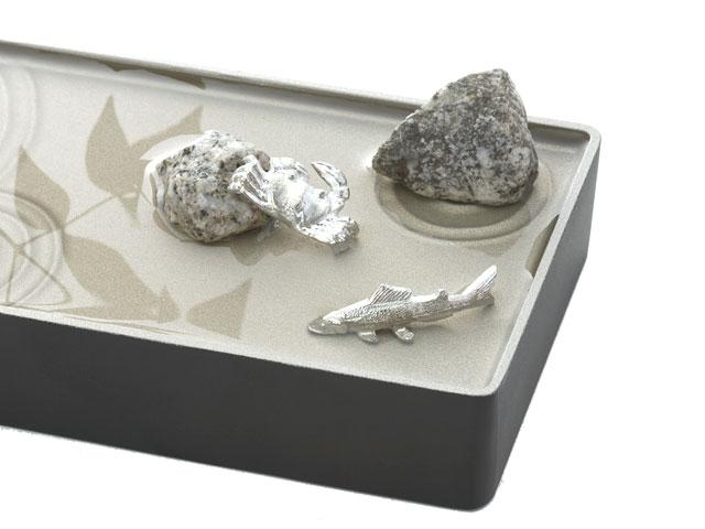 鮎と蟹の置物セット